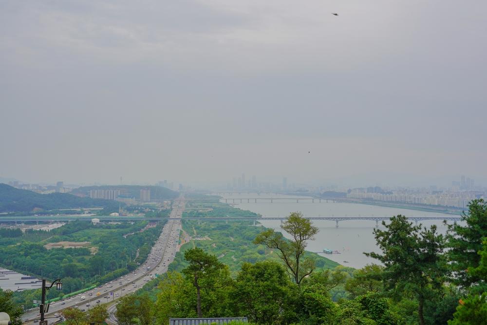 행주산성에서 바라본 남산타워 롯데타워풍경