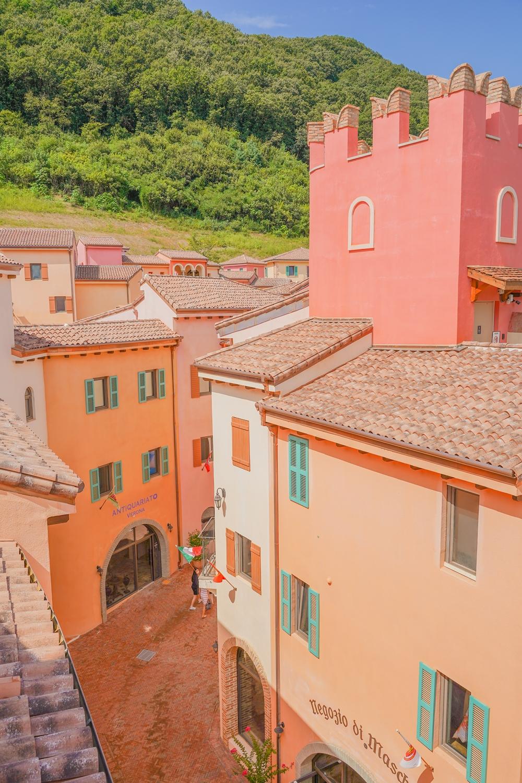 이탈리아 마을 '피노키오와 다빈치'  위에서 바라본 제페토 골목