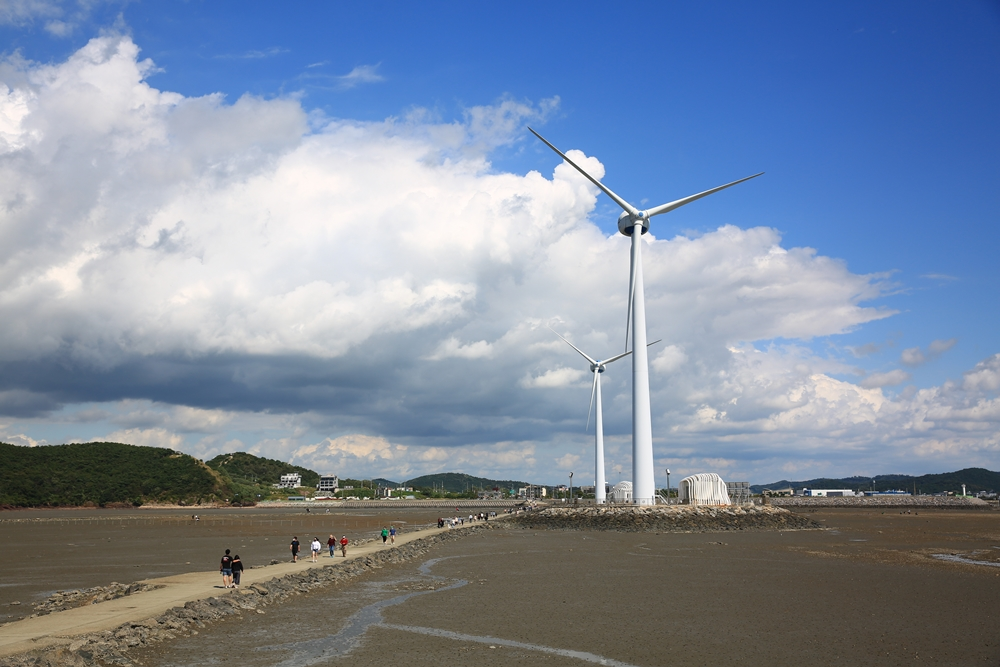 예술섬누에 풍력발전기